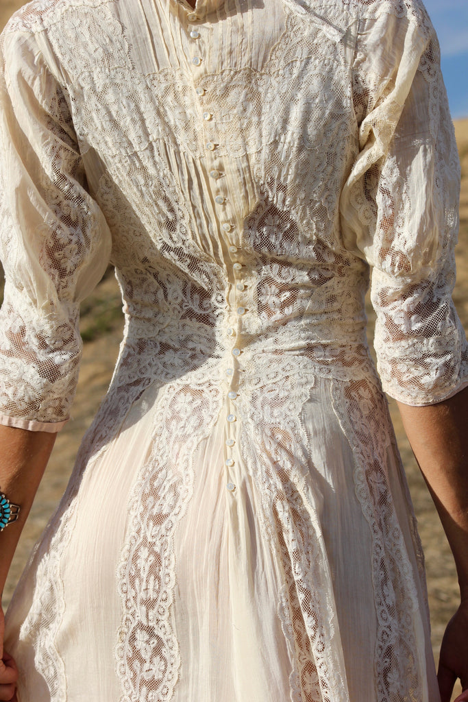 Antique Victorian Era Lace Wedding Dress Wowza Honeywood