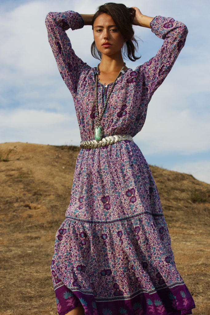 """Indian Summer"" Gauzy Indian Cotton Bohemian Dress"