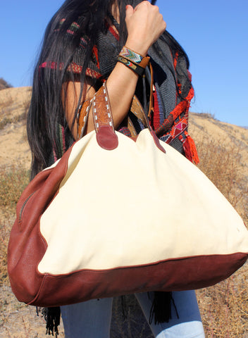"RESERVED Honeywood Deerskin ""Gypsy Overnighter"" Two-Tone"