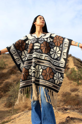 Woven Earth Mexican Poncho