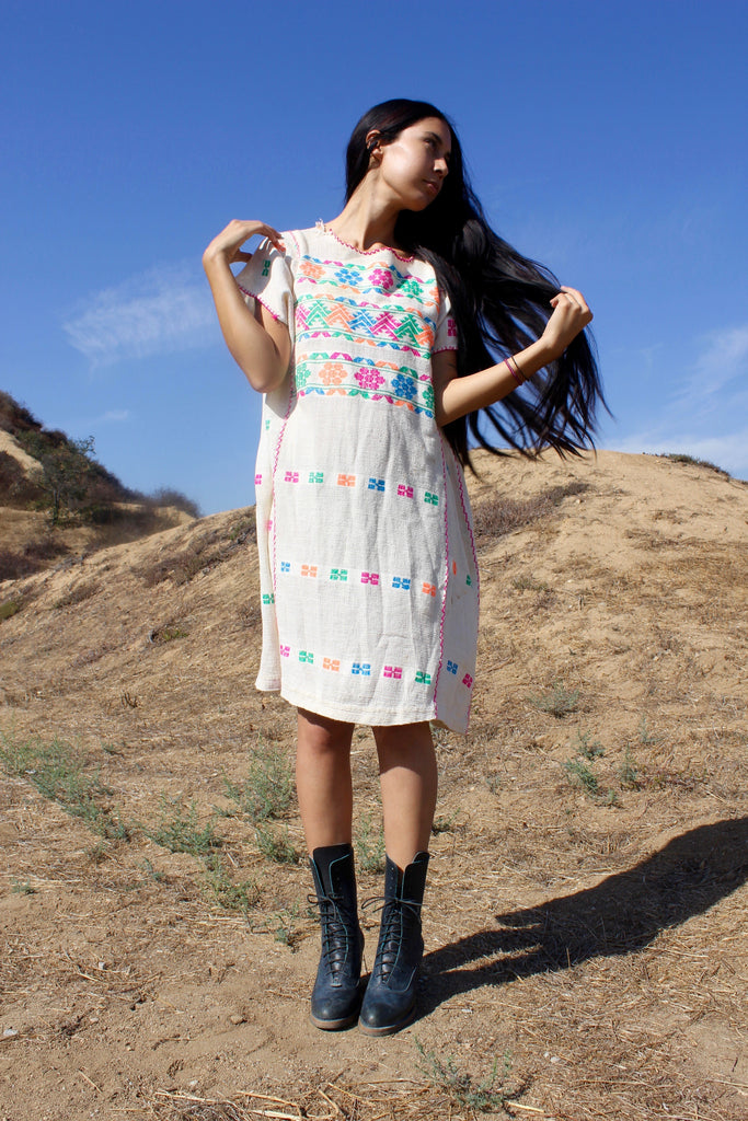 1970s Vintage Tunic Handwoven Huipil