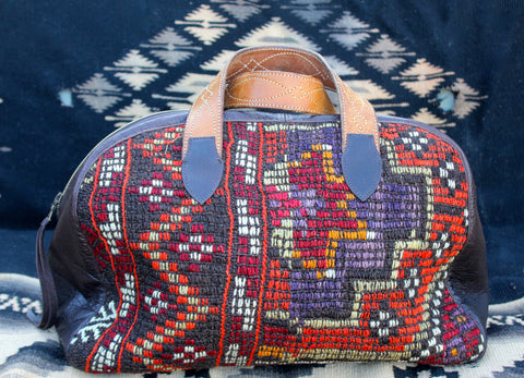 "Honeywood Original ""Gypsy Overnighter"" Antique Textile One-of-a-Kind Bag"