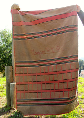 """Wagner"" 1940s Embroidered Indian Camp Blanket"