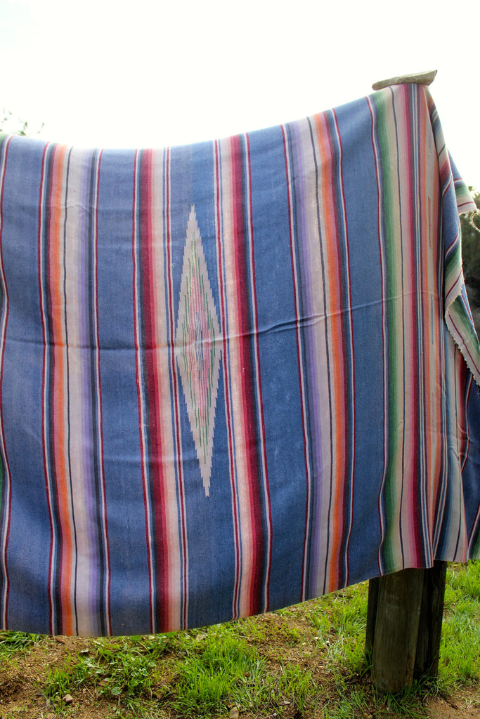 HUGE and Yummy Antique Saltillo Blanket