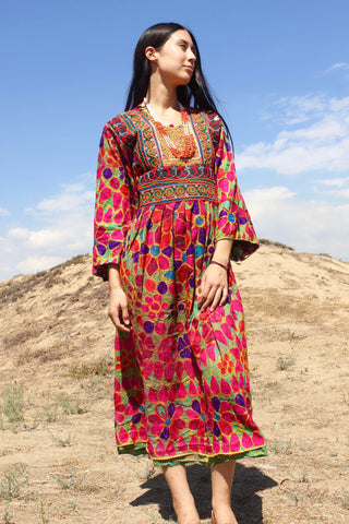 "SALE ""Nomadic Beauty"" Traditional Handmade Afghan Gown"