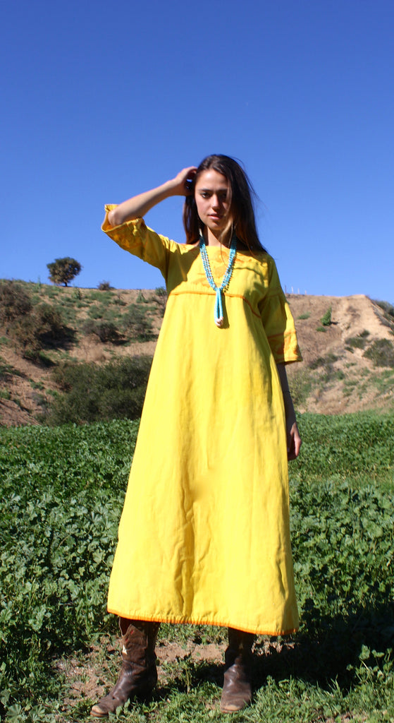 "Vintage Josefa Mexican Maxi Dress ""The Barefoot Eagle"""