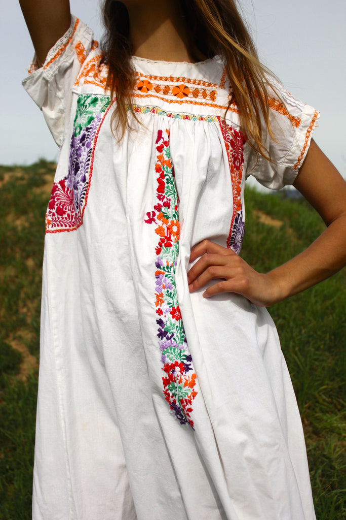 Romantic Oaxacan Hand Embroidered Dress