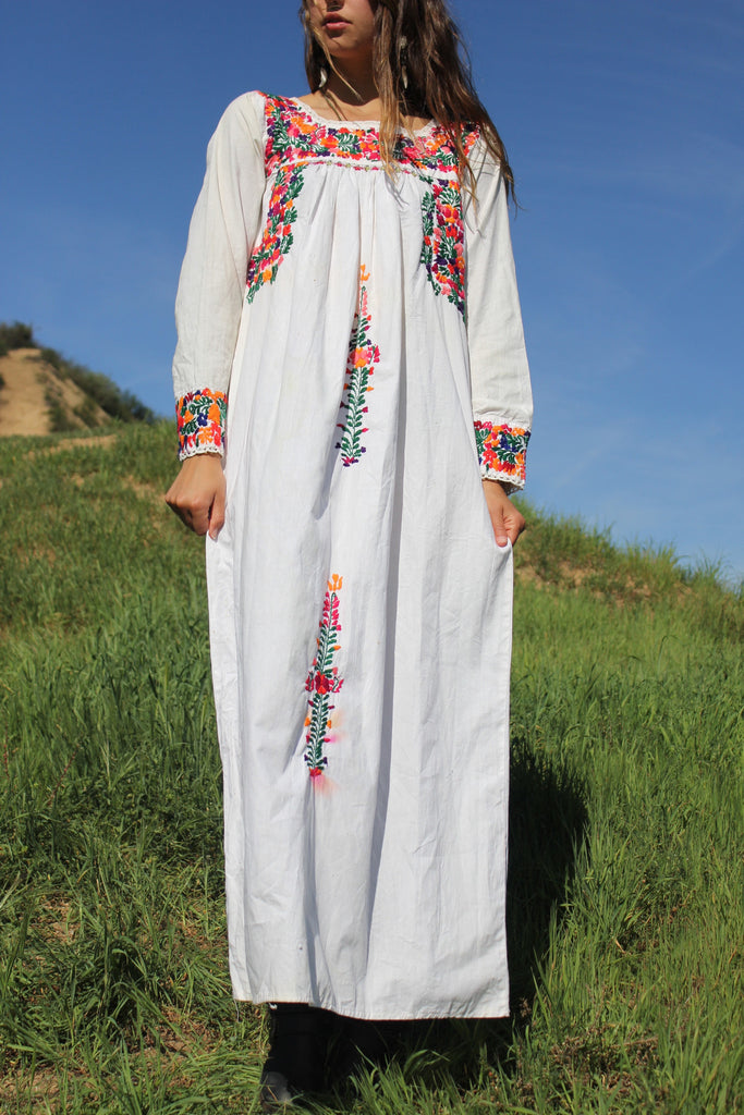 Bohemian Mexican Wedding Dress Oaxacan Maxi