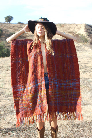 """Indian Summer"" Handwoven  Wrap/Poncho"