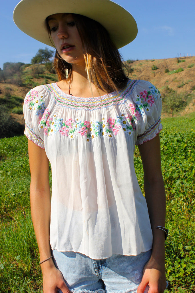 Stunning! Hand Embroidered Hungarian Blouse