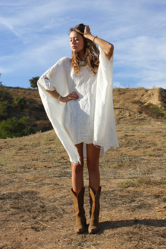 """High Weeds "" One-of-a-Kind Tunic Dress"
