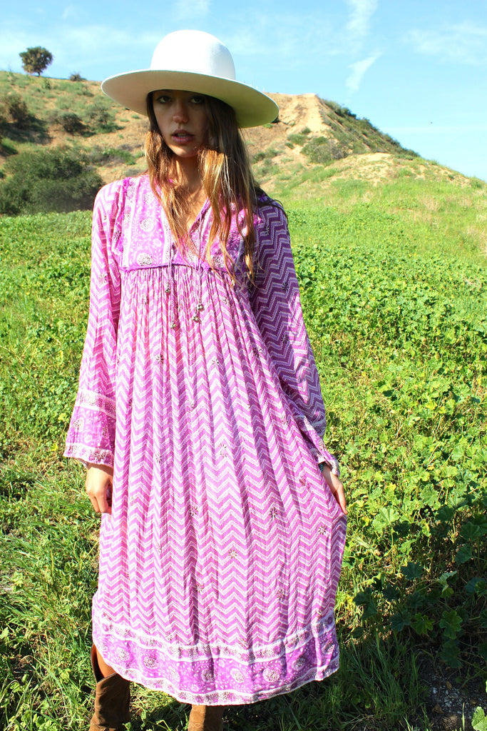 Dreamy 1970s Gauzy Indian Dress
