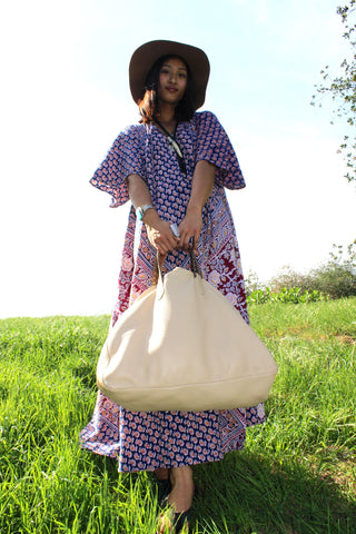 """Gypsy Overnighter"" Honeywood Original Deerskin Bag"