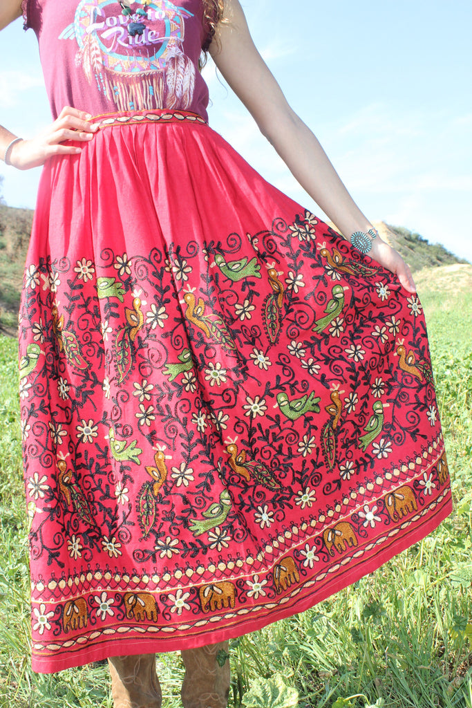 Vintage Hand Embroidered Rajastan Tribal Bohemian Skirt