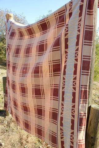 """Desert Camp"" Vintage 1940s Beacon Trade Blanket"