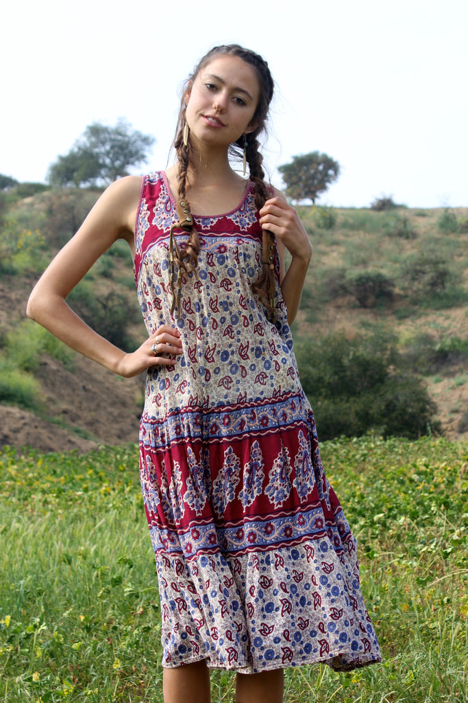 1970s Gauzy Indian Sun Dress