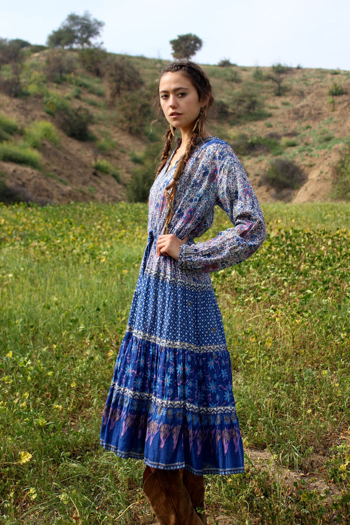 1ca8ca08d5 Beautiful Bohemian Vintage Indian Gauzy Dress Circa 1970s – Honeywood