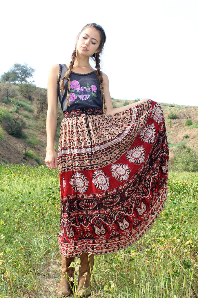 Vintage Indian Maxi Skirt