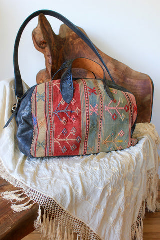"Original ""Honeywood Overnighter Bag"" One-of-A-Kind Carpet Bag"