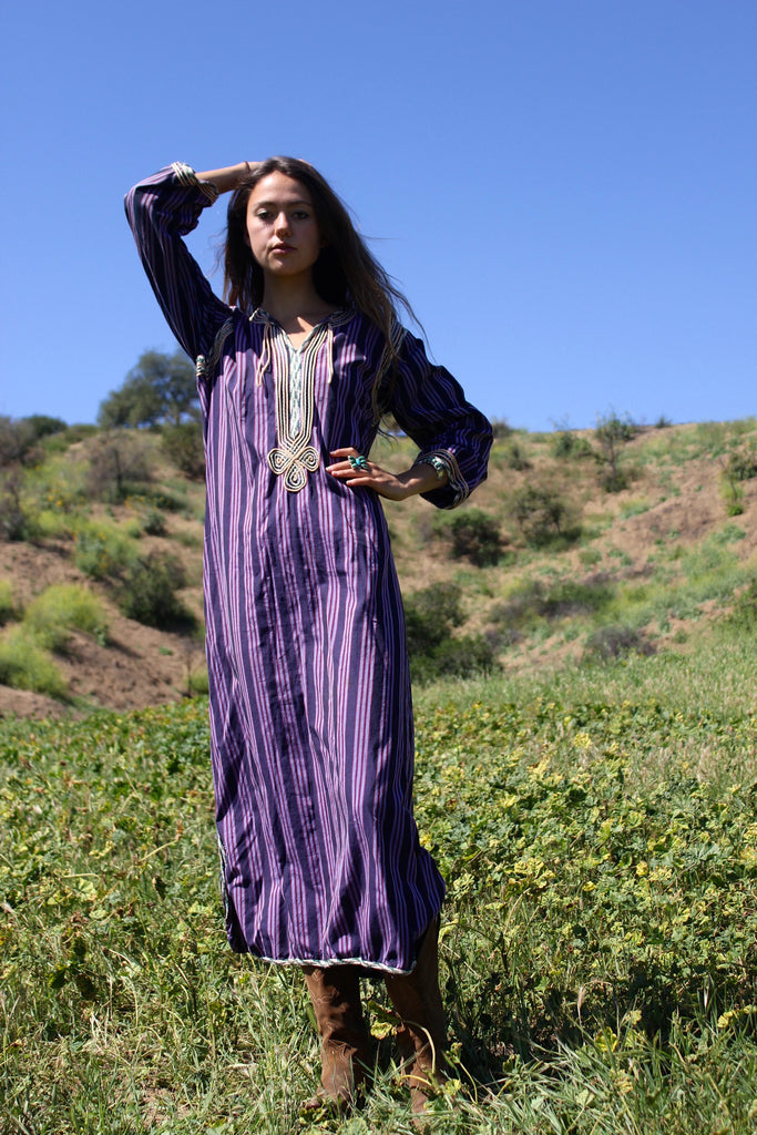 RESERVED Vintage Bedouin Striped Kaftan