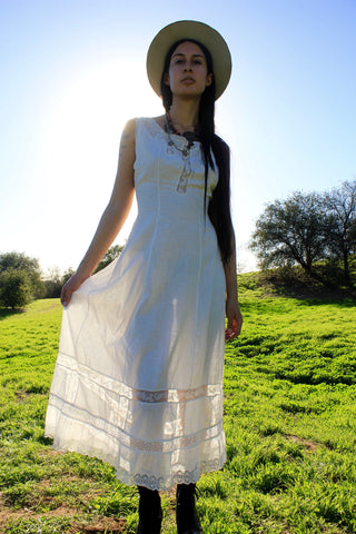 """Victorian Day Dream"" Antique Cotton Lawn Dress"