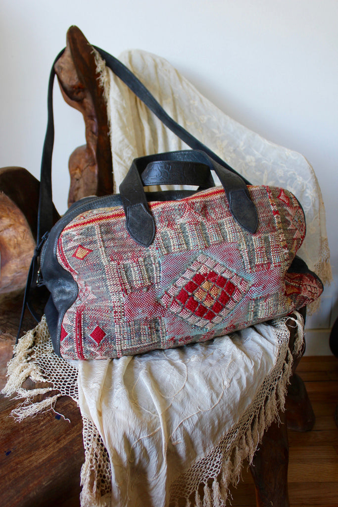 "Reserved Honeywood Original ""Gypsy Overnighter"" one of a kind carpet bag"
