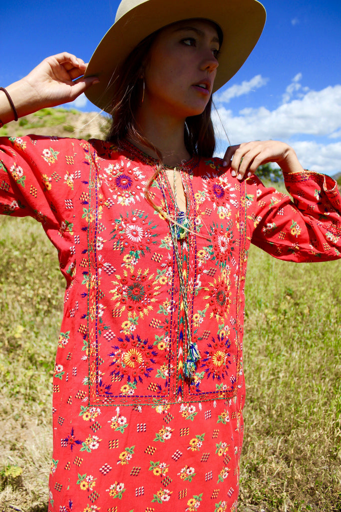 1970s Hand Embroidered Pakistani Tunic