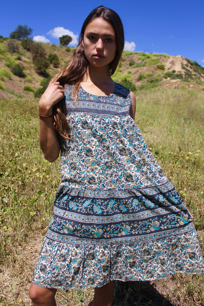 Vintage Indian Cotton Sun Dress