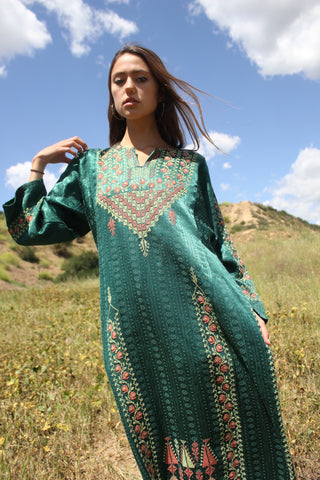 Vintage Hand Embroidered Bedouin Maxi Dress