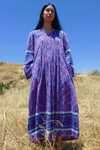 """Topanga DayDream"" Vintage Indian Maxi Dress"