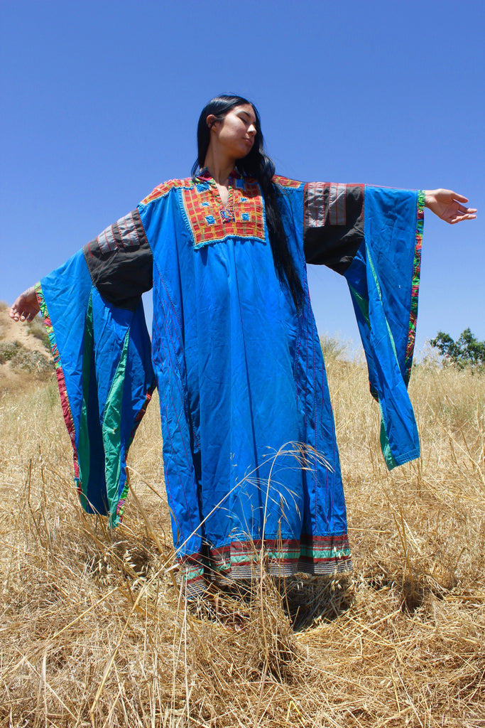 """Cosmic Festival"" Out of this World Vintage Handmade Bedouin Kaftan"