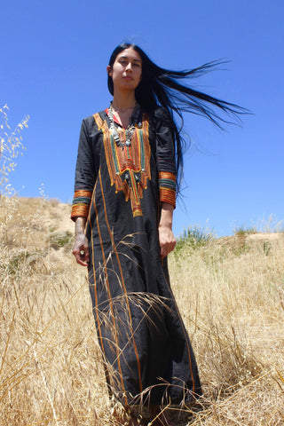 """Marrakesh Moon"" Vintage Handmade Bedouin Maxi Dress"