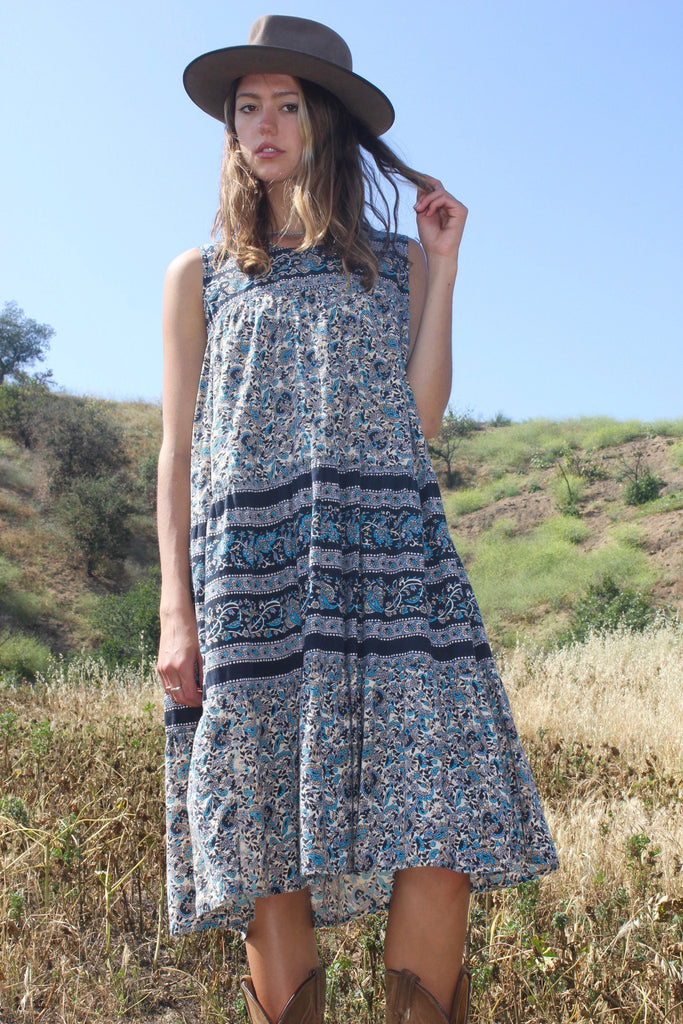 Vintage Summer Indian Cotton Sun Dress