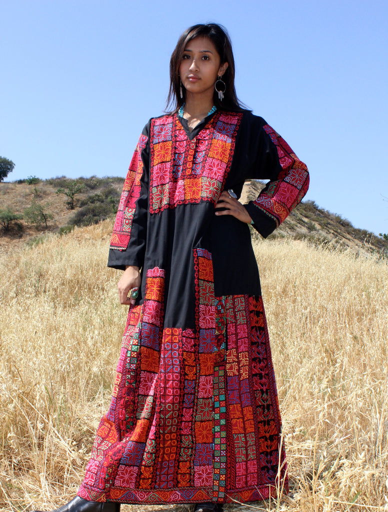 Hand Embroidered Bedouin Beauty Maxi Dress