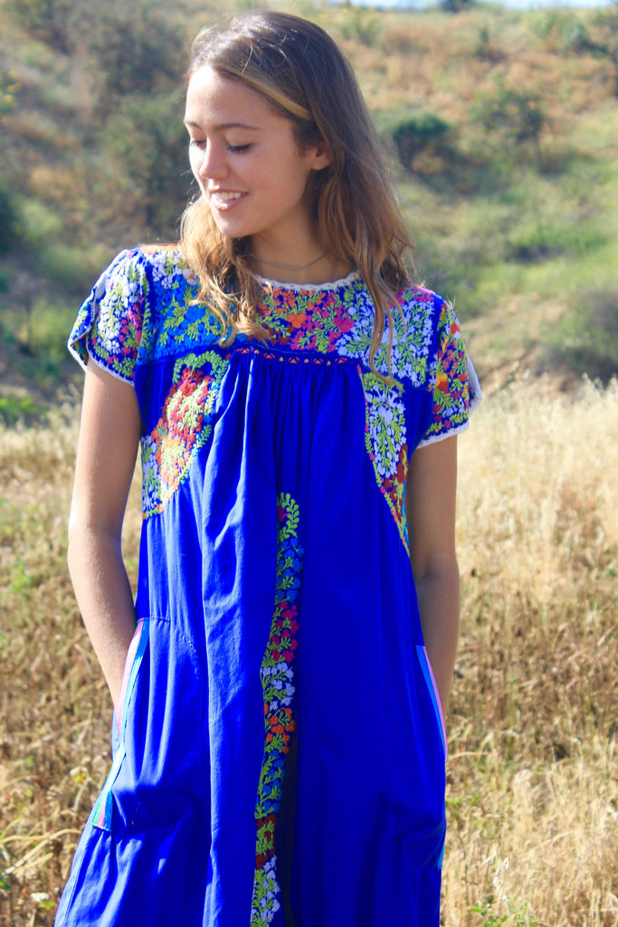 Vintage Oaxacan Hand Embroidered Dress