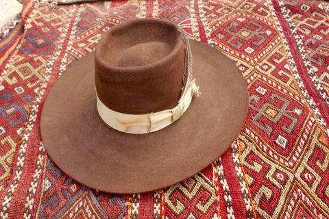 """The Savannah"" Vintage Reshaped Lone Hawk Hat"