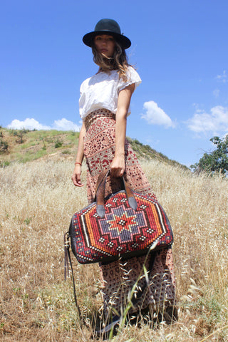 "Honeywood ""Gypsy Overnighter"" One-of-a-kind Carpet Bag"