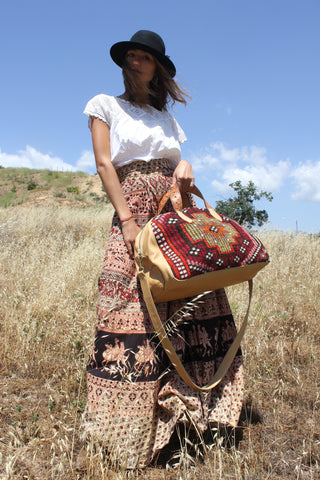 "Honeywood ""Gypsy Overnighter Bag"" Handmade Carpet Bag"