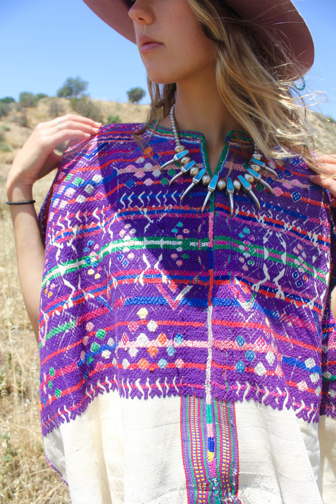 Vibrant and detailed Heavily Embroidered Guatemalan Huipil