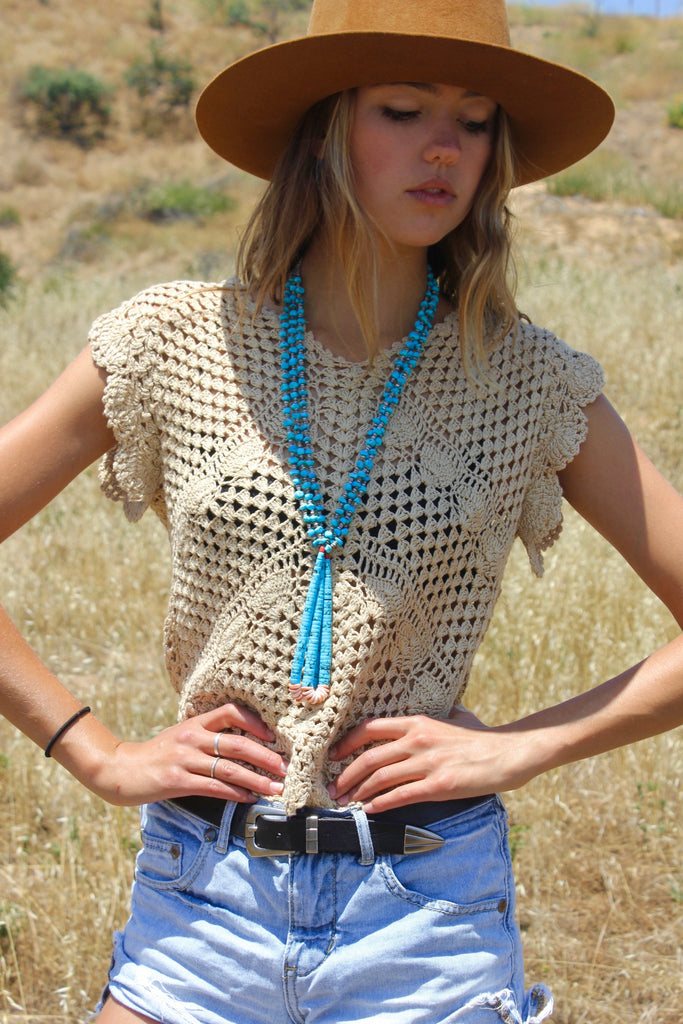 1970s Handmade Indian Crochet Blouse
