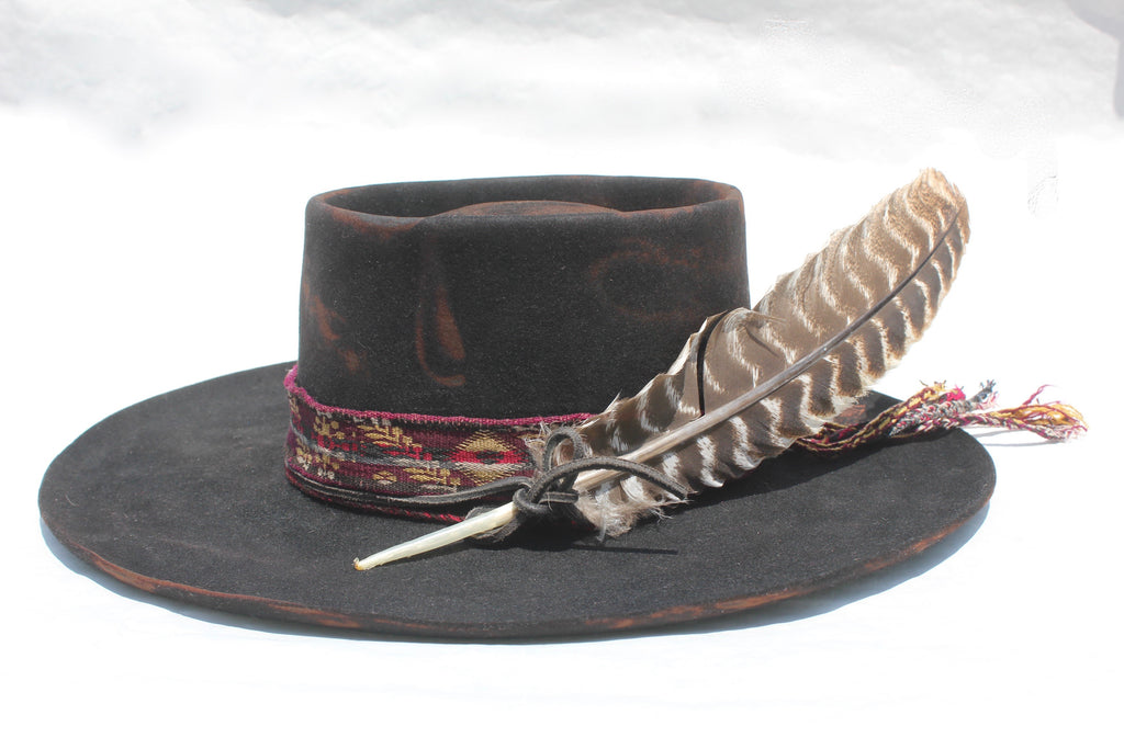 """Bedouin Telecope"" One of a Kind Lone Hawk Hat"