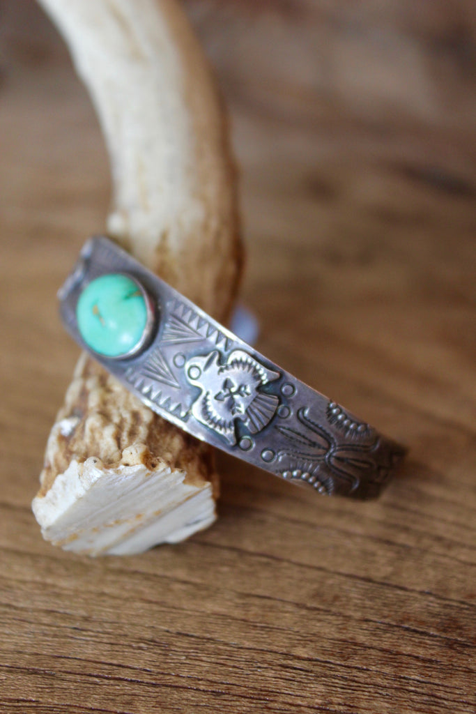 Detailed Thunderbird Native American Fred Harvey Era Cuff