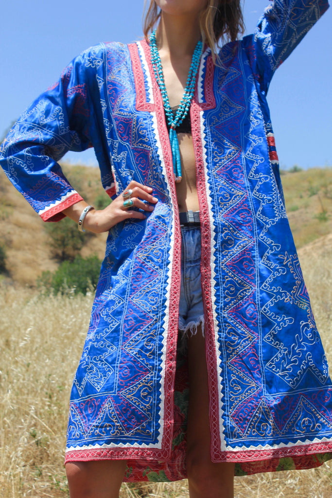 Antique Bohemian Turkmen Tribal Coat Exceptional Quality