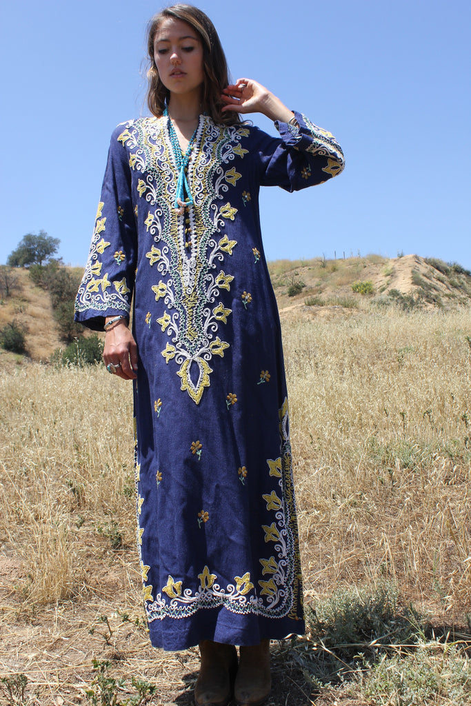 Stunning Heavily Embroidered Middle Eastern Maxi Dress