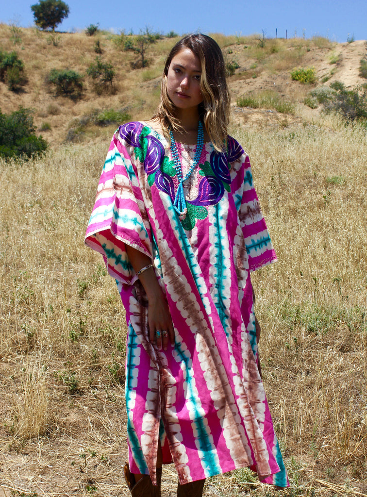 L/XL Handmade Silk African Dashiki Dress