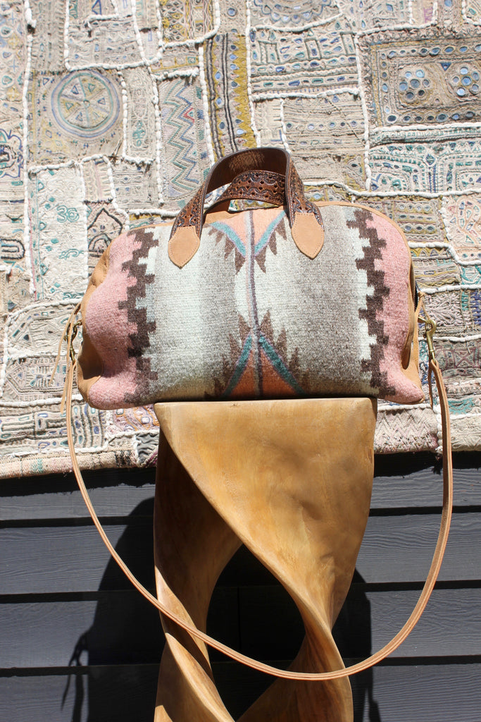 "Original ""Gypsy Overnighter Bag"" Honeywood Deerskin  Bag"