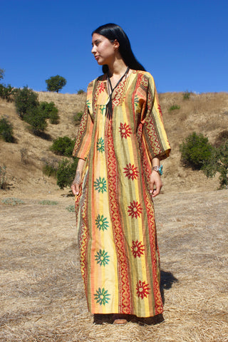 The Honeywood Kaftan One-of-a-kind Indian Block Print