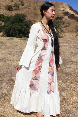 """Sacred Geometry"" 1970s Maxi Dress"