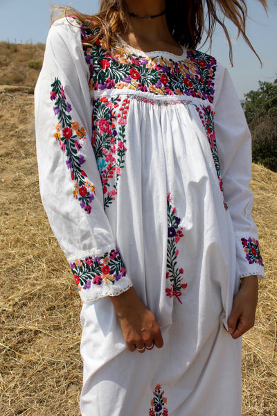 Quot Bohemian Goddess Quot Vintage Hand Embroidered Oaxacan Maxi