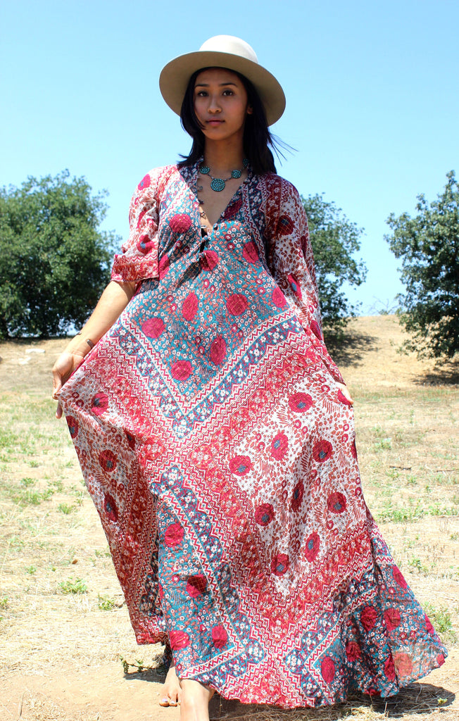 """The Bohemian Fantasy"" Original 1970s Adini Sultana Maxi Dress"